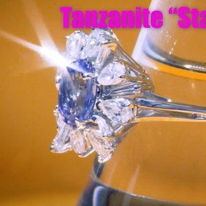 Jewelry - Tanzanite Ring Starburst with Melee Diamonds